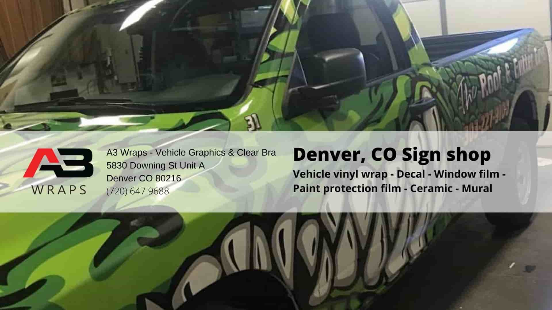 A3 Wraps - Vehicle Graphics & Clear Bra serving Denver Colorado