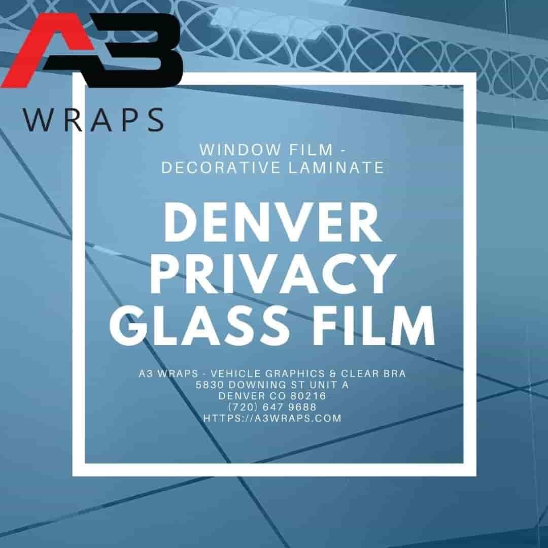 A3 Wraps - Vehicle Graphics & Clear bra - Denver privacy glass film