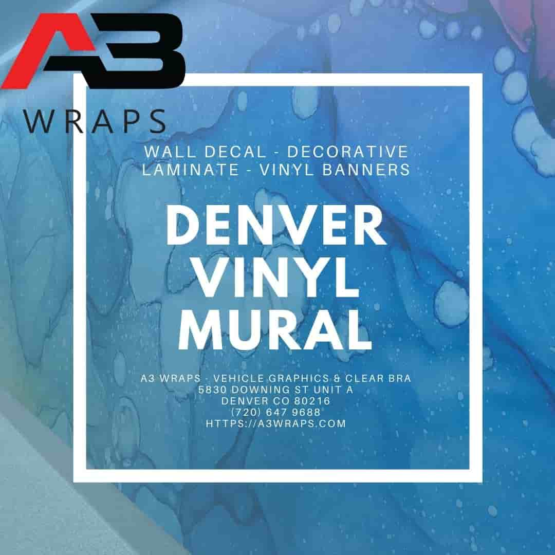 A3 Wraps - Vehicle Graphics & Clear bra - Denver vinyl Mural