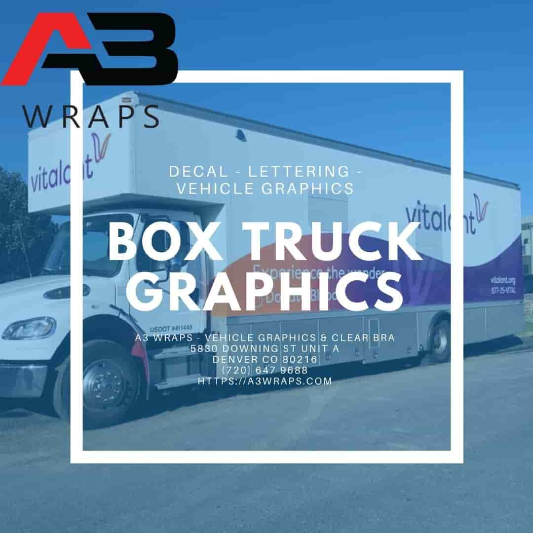Denver Box truck graphics  by A3 Wraps - Vehicle Graphics & Clear Bra