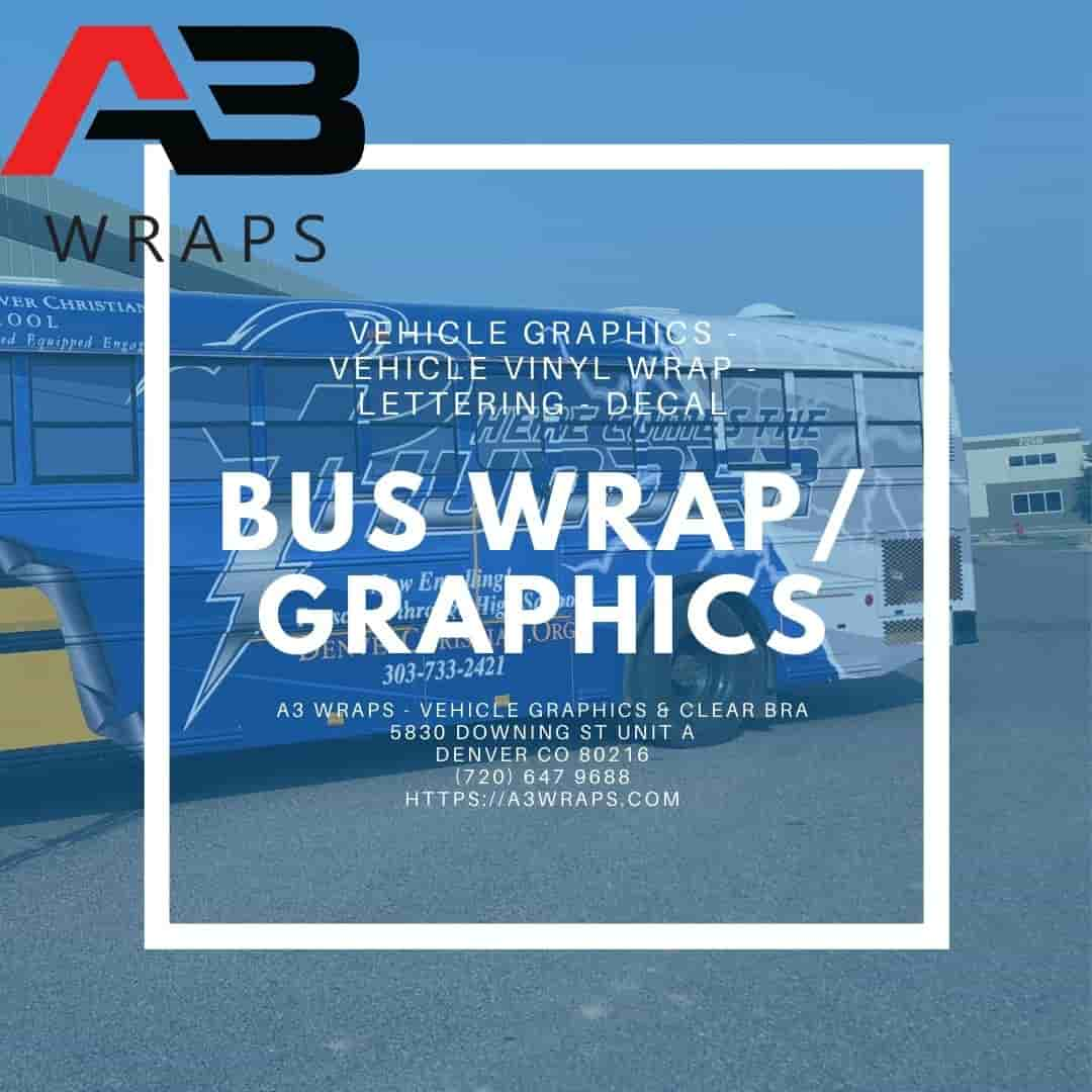 Denver Bus wrap by A3 Wraps - Vehicle Graphics & Clear Bra