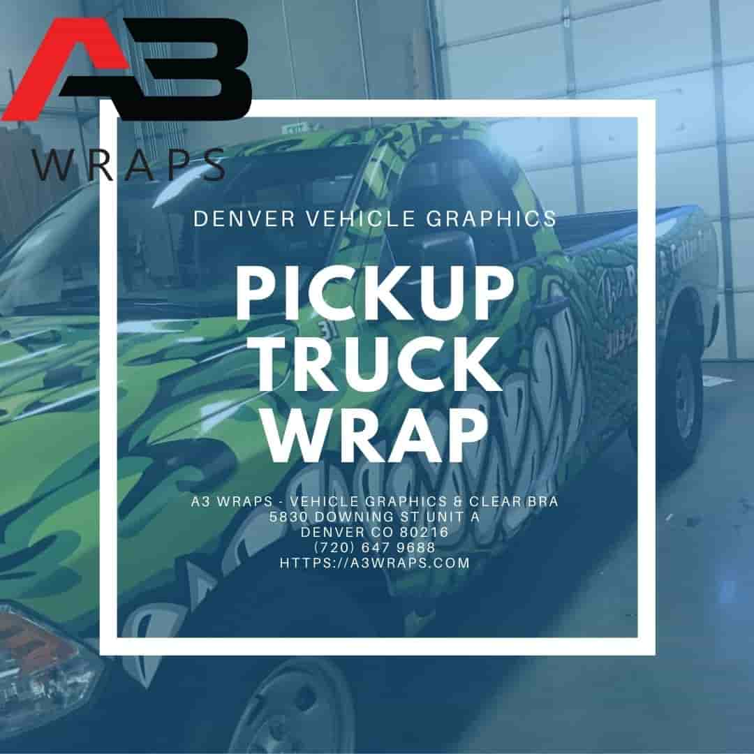 Denver Pickup truck wrap  by A3 Wraps - Vehicle Graphics & Clear Bra