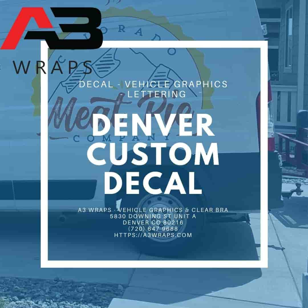 Denver custom vinyl Decal by A3 Wraps - Vehicle Graphics & Clear Bra