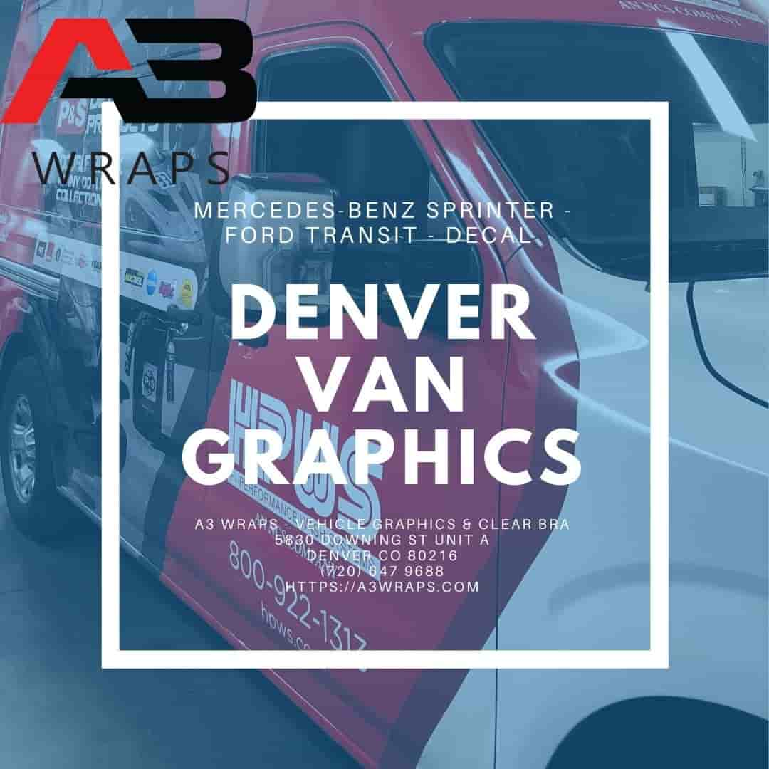 Denver van graphics  by A3 Wraps - Vehicle Graphics & Clear Bra