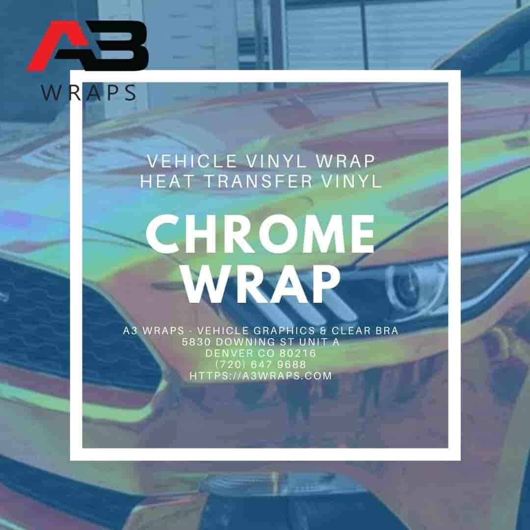 Denver chrome vinyl wrap -  A3 Wraps - Vehicle Graphics & Clear Bra